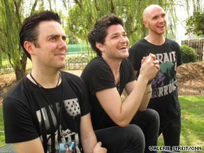 The Script includes, from left to right, Glen Power, Danny O'Donoghue and Mark Sheehan.