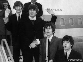 The Beatles, shown here in 1964, left behind a wealth of material, which was carefully handled by EMI's engineers.