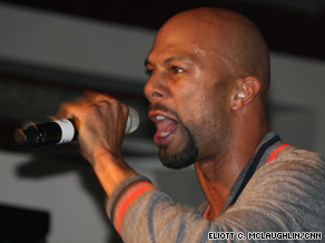 Common performs with The Roots during a show at Atlanta's Velvet Room on Saturday.
