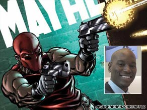 Tyrese Gibson voices &quot;Mayhem,&quot; a hero described as the &quot;embodiment of raw justice and vengeance.&quot;
