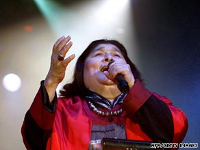 Argentine singer Mercedes Sosa died at a Buenos Aires clinic and had reportedly suffered from several ailments.