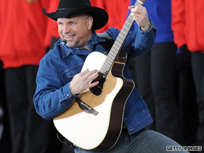 Garth Brooks performs during inaugural festivities in Washington in January.