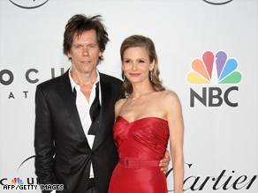 Kyra Sedgwick and her husband, Kevin Bacon, at the 66th annual Golden Globe Awards this month.