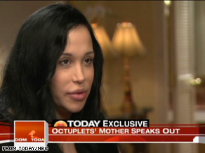 Nadya Suleman had her octuplets through fertility treatments.
