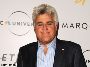 "Jay Leno, host of ""The Tonight Show,"" will play a free show in Detroit, Michigan, for the unemployed."