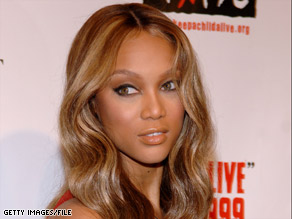 "Supermodel Tyra Banks, who hosts ""America's Next Top Model,"" says she's not certain what triggered the fight."