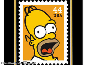 Homer Simpson is one of the &quot;Simpsons&quot; characters that will appear on a stamp.