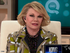 Joan Rivers appeared on CNN's &quot;Larry King Live&quot; Monday night and explained her explosive confrontations.
