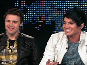 """American Idol"" winner Kris Allen, left, and runner-up Adam Lambert say they're good friends."