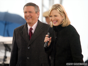 "Charlie Gibson and Diane Sawyer worked together on ""Good Morning America."""