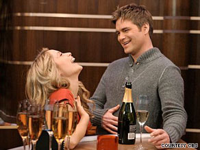 "Bill (Daniel Cosgrove) makes Lizzie (Marcy Rylan) laugh on a recent episode of ""Guiding Light."""