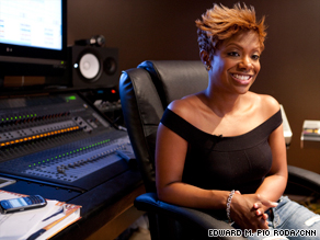 Kandi Burruss, shown in July at her recording studio, is grappling with the loss of her fiance.