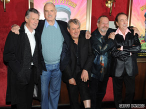 Surviving Pythons, from left, Michael Palin, John Cleese, Terry Jones, Terry Gilliam and Eric Idle attend IFC event.