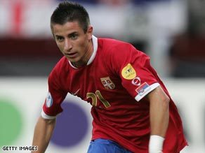 Tosic has made 12 appearances for Serbia and will be challenging for a place in the Manchester United side.