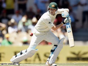 Michael Clarke is unbeaten on 73 as Australia ended the first day of the third Test on 267 for six.