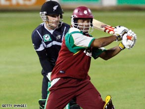 Sarwan hit 67 off just 65 balls to steer West Indies to victory over New Zealand in Christchurch.