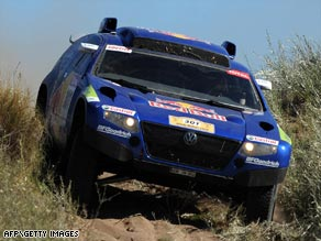 Sainz retained the overall lead in the Dakar Rally despite being beaten in the third stage in Argentina.