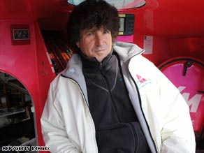 Jean Le Cam, pictured in his yacht VM Materiaux before the Vendee Globe start in November