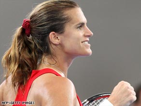 Former world No. 1 Mauresmo bounced back from her longest career match to shock Ivanovic in Brisbane.
