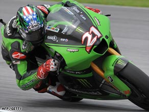 American John Hopkins rode for Kawasaki in the 2008 season with limited success.