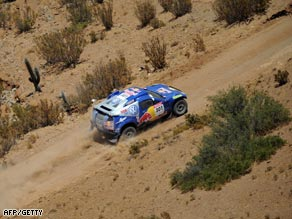 Sainz found the sweeping terrain on the eighth leg to his liking as he closed on victory.