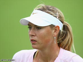 Sharapova has been forced out of the opening grand slam of the season in Australia.