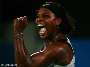 Williams was delighted to finally wrap up victory over Wozniacki in Sydney.