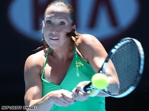 World No. 1 Jankovic put her feet on ice between changeovers as she opened with a win on Rod Laver Arena.