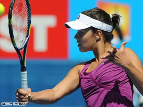French Open champion Ivanovic reached the third round with a straight sets win.