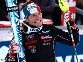 Elated Julien Lizeroux led a French one-two to claim the first podium place of his World Cup career.