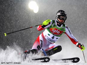 Herbst made light of the snowy conditions to claim victory in the Schladming night slalom.