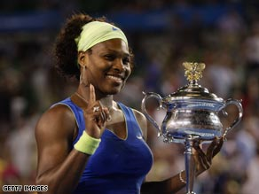 Serena Williams took the Australian Open title after thrashing Russia's Dinara Safina.