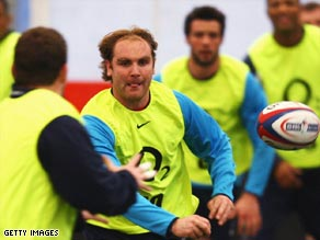 France-based Goode, center, has been recalled for his first England outing in more than two years.