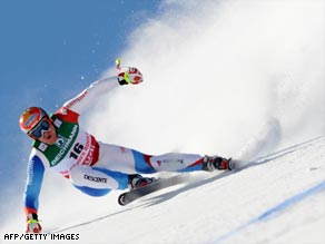 Cuche's previous best in a major event was silver at the Winter Olympics in Nagano in 1998.