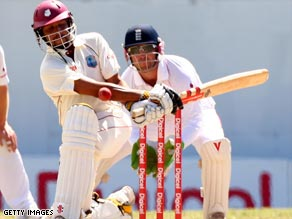 Sarwan was denied his second century of the series when he was dismissed four runs short of his century.