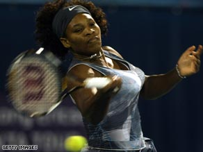 Serena is tied at 9-9 with older sister Venus in their career head-to-head meetings.