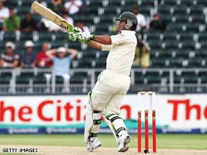 Australia captain Ricky Ponting scored an impressive 83 to help his side fight back in the first Test.