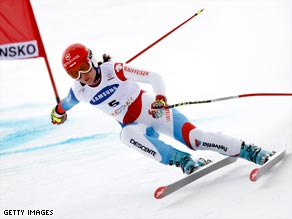 Suter won her first-ever downhill in Bulgaria's debut on the World Cup circuit.