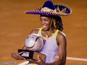 Venus tasted success on her first visit to the clay court tournament in Acapulco.