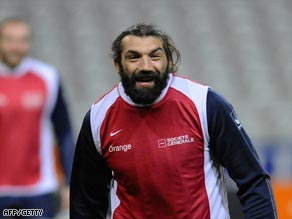 Giant Sale forward Sebatien Chabal has been switched from lock to the back row.