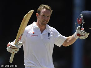 Collingwood hit his ninth Test hundred as England continued to rack up the runs in Trinidad.