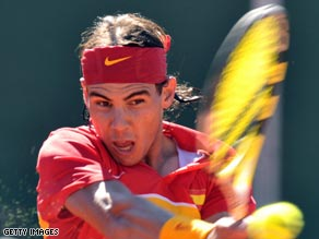 Nadal was in convincing form to help Spain move closer to the Davis Cup quarterfinals.