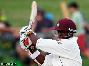 An unbeaten century from Shivnarine Chanderpaul helped put West Indies into a commanding position.