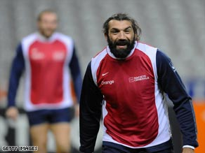 The instantly recognizable Chabal has returned to the back row for Twickenham clash.