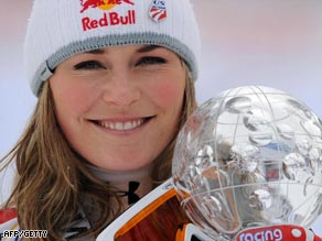 Vonn has claimed two crystal globes in two days with successive victories in Are.