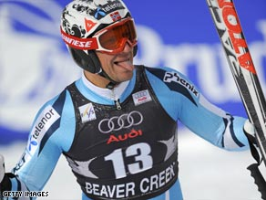 Svindal is the men's overall World Cup champion after Benjamin Raich crashed out in the final race of season.