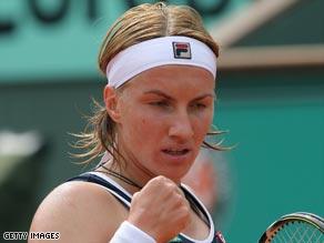 Russian Kuznetsova will not be reaching the Indian Wells final again this year.