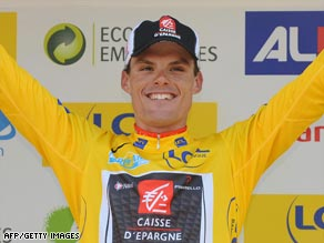Sanchez celebrates the biggest win of his career by securing victory in Paris-Nice on Sunday.