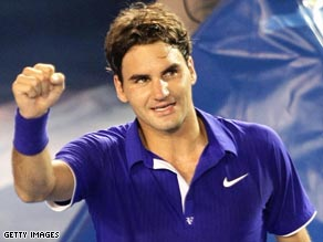 Roger Federer eased into the second round in Indian Wells in his first match since his Melbourne defeat.