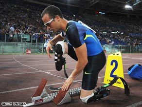 Pistorius has declared himself fit to compete in Manchester after recovering from his boating accident.